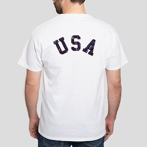 Vintage Team USA [back] White T-Shirt
